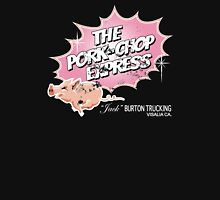 Pork Chop Express - Distressed Pink Dust Variant Womens Fitted T-Shirt