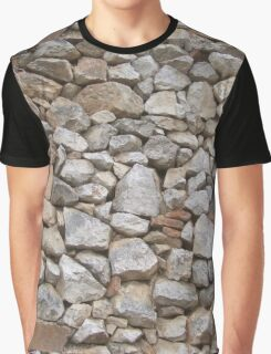 STONE WALL, Rock and a hard Place,  textures, Stonewall Jackson Graphic T-Shirt