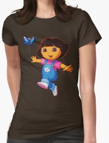 dora the explorer Womens Fitted T-Shirt