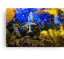 Travel Map Canvas Print