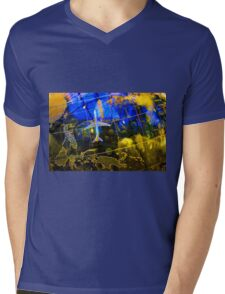 Travel Map Mens V-Neck T-Shirt