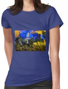 Travel Map Womens Fitted T-Shirt