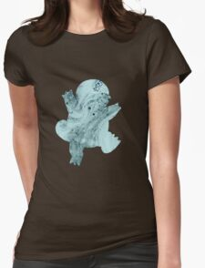Squirtle Bubbles Womens Fitted T-Shirt