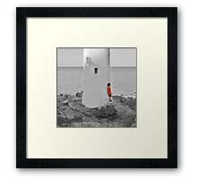 The Woman In Red Framed Print