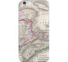 Vintage Nova Scotia and New Brunswick Map (1866) iPhone Case/Skin