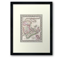 Vintage Nova Scotia and New Brunswick Map (1866) Framed Print