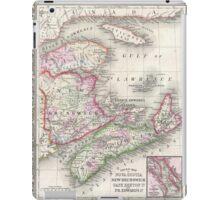 Vintage Nova Scotia and New Brunswick Map (1866) iPad Case/Skin
