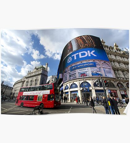 Piccadilly Circus in London Poster