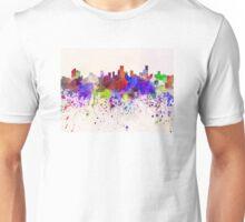 Bogota skyline in watercolor background Unisex T-Shirt