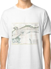 Vintage Map of The Mississippi Sound (1866) Classic T-Shirt