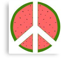 Peace by Watermelon Canvas Print