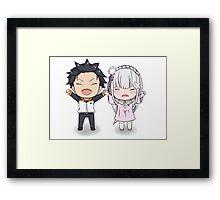 Re:Zero cute Framed Print