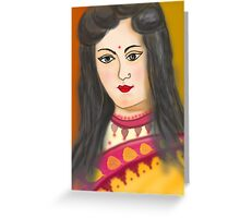 One Young Woman  Greeting Card