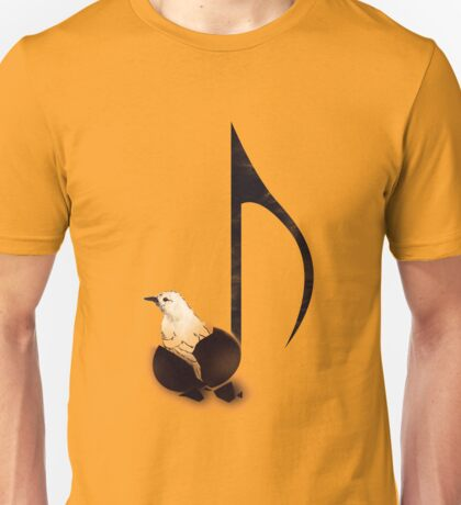 Born to sing - Orange Unisex T-Shirt