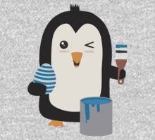 Penguin with egg   One Piece - Short Sleeve