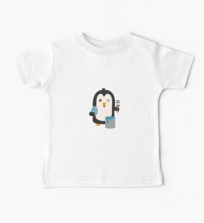 Penguin with egg   Baby Tee