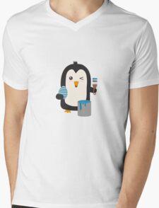 Penguin with egg   Mens V-Neck T-Shirt