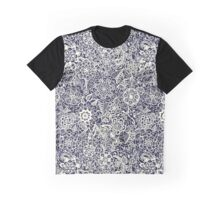 Lace on Nautical Navy Blue Graphic T-Shirt