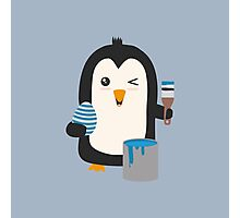 Penguin with egg   Photographic Print