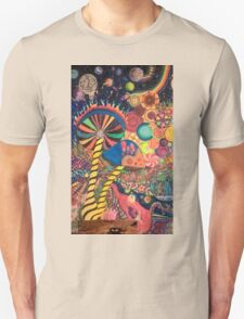 Mushrooms and space Unisex T-Shirt