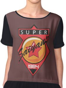 Super Saiyans Baseball Chiffon Top