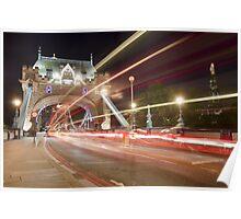 Tower Bridge at night, London Poster