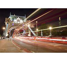 Tower Bridge at night, London Photographic Print