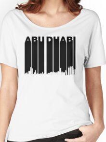 Retro Abu Dhabi Skyline Women's Relaxed Fit T-Shirt