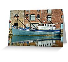 On Exeter Quay Greeting Card