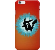 Who's that Pokemon - Pikachu iPhone Case/Skin