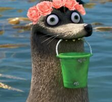 Gerald Finding Dory Flower Crown Sticker