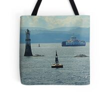 River Clyde At Dunoon with 2016 Calmac Ferry. Scotland Tote Bag