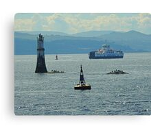 River Clyde At Dunoon with 2016 Calmac Ferry. Scotland Canvas Print