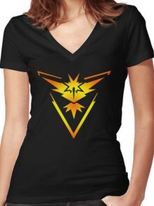 Team Instinct!! Women's Fitted V-Neck T-Shirt