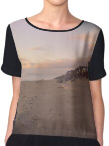Rockaway Beach Golden Hour Chiffon Top