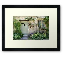 Typical Cotswolds house facade, UK Framed Print