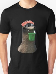Gerald Finding Dory Flower Crown No Background Transparent Sticker Unisex T-Shirt