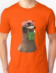 Gerald Finding Dory Flower Crown No Background Transparent Sticker Unisex T-Shirt