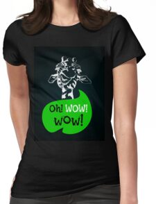 head of creative giraffe hipster Womens Fitted T-Shirt