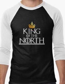 KING OF THE NORTH - black Men's Baseball ¾ T-Shirt