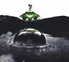 Landing on Zebes A Metroid Surrealism Sticker