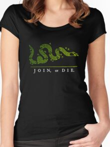 Join or die Women's Fitted Scoop T-Shirt