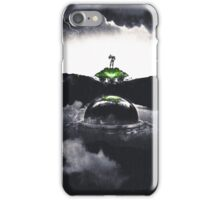 Landing on Zebes A Metroid Surrealism iPhone Case/Skin