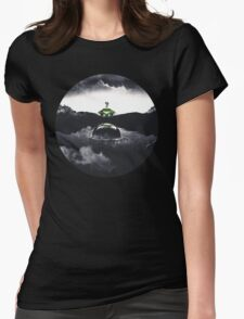 Landing on Zebes A Metroid Surrealism Womens Fitted T-Shirt