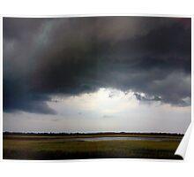 Stormclouds Over Marsh Poster