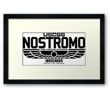 NOSTROMO ALIEN MOVIE STARSHIP (BLACK) Framed Print