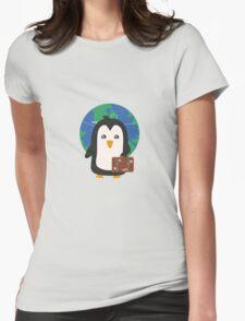 Penguin world traveler   Womens Fitted T-Shirt