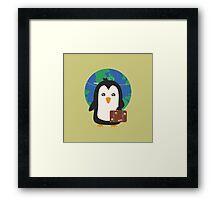 Penguin world traveler   Framed Print