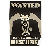 Wanted- Henchmen Poster Poster