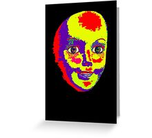 Psychedelic Mannequin Head Greeting Card